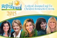 2015 Real Refreshment Retreats Speakers / Join us March 6-7, 2015 in Baltimore, MD for the Real Refreshment Retreat. The Real Refreshment Retreats have become the place for homeschool moms to join with women as they seek to educate their children to the glory of God. www.RealRefreshment.com / by Real Refreshment Retreats