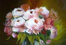 Ma galerie Still Life flowers paintings / Mes natures mortes aux fleurs