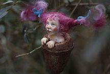 Trollen, elfen, fantasie figuren,...