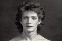 "..ROBERT MAPPLETHORPE.. / ""I am obsessed with beauty,"" he explained to Anne Horton in a 1987 interview.  ""I want everything to be perfect and, of course, it isn't.  And that's a tough place to be because you're never really satisfied.""  Mapplethorpe: A Biography by Patricia Morrisroe / by a lady with a cat"