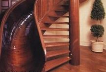 Wood Stairs / Stairs made from wood. Notice the treads, risers, railings ! All these woods are available at www.rare-earth-hardwoods.com