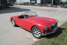 Red MGA Car 1956 / A 1959 Red MGA Car, number 2000 built out of around 100,000 buying parts from the David Manners Group http://www.jagspares.co.uk/Abingdon/PartSearch.asp / by David Manners Group