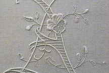 Monograms, old linens and other fabrics