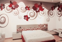 Interior Design - Murals / A mural is able to transform the appearance of a room faster than any other kind of accessory. Let's give a new look to your home, your office, your store...