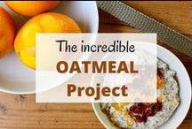 The OATMEAL Project / A board devoted to all things oatmeal!  Whether a traditional breakfast cereal, layered in a yogurt parfait, baked into granola, this board is to celebrate oats!