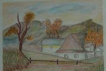 My Watercolor & pastel painting / aquarell és pasztell képek