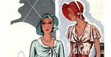 Art Deco Clothing in Drawings