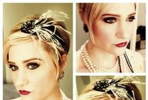 Great Gatsby Makeup / Bold liner and lips with a light powder foundation make this look PERFECT for any 20's themed party or event!  Makeup by artist Elisa on fellow artist Sarah