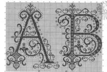 cross stitch - alphabeth, alfabeto