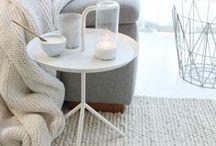 Woonkamer / Wooninspiratie voor een lichte en frisse woonkamer met wat landelijke en Scandinavische invloeden.