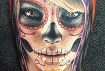 Dia de los muertos and sugar skull.