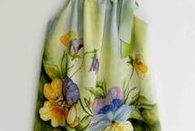 Painted silk clothes