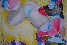 My silk painting / Silk hand painted, silk art
