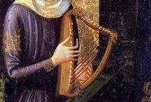 14th century harp iconography
