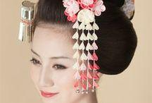 Traditional Japanese Hairstyles / 日本女性の伝統的な髪形。ここでは江戸時代以降の女性の髪形をピックアップしています。