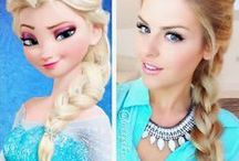 FROZEN Elsa & Anna hair