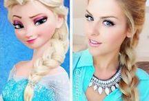 FROZEN Elsa & Anna hair