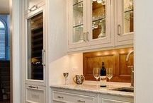 Wine bars / Gathering a collage of ideas for wine bars and wet bars.  Add a wine bar to your new home floor plan and make your home perfect for holiday entertaining!