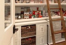 Pantry Designs / Gathering ideas for walk in pantries and clever space saving tricks for the pantry.