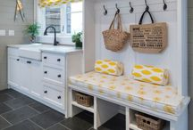 Mud Room Ideas / A mudroom can be both functional and beautiful.  This room can be the filter for your home....it can be used as the place to store shoes, coats, dirty sporting equipment, car keys, dog leashes, dog toys, pet beds and all the other things that you would like to keep off the living room floor.  If you have space in your floor plan, add this must have room and you will cut down on your house cleaning.  I can't live without my mudroom!