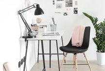 WOHNEN: Home Office / Wie richte ich mein Home Office ein? Die besten Ideen für deinen Workspace.