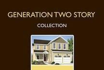 Generation Two Story Home Plan Collection / The Generation Two Story Home Series offers 10 plans, all designed with today's family in mind - these homes include designer kitchens, open entertainment space, spa-like baths, and ample storage space.  For more information on building your new home with Excel Homes, or to download any of our home plan brochures, visit http://www.excelhomes.com.