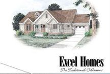 The Traditional Home Collection / 40 home plans with traditional styling. Includes the following home styles: ranch, raised ranch, split level, cape and two-story.  To learn more about building your next home with Excel Homes, or to download any of our brochures, visit http://www.excelhomes.com