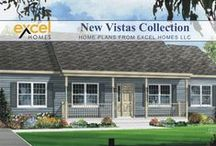 The New Vistas Home Plan Collection / A an eclectic mix of 29 plans, in ranch, cape cod and two story styles.  A number of these plans are designed to fit on a narrow lot.  To learn more about building your next home with Excel Homes, or to download any of our brochures, visit http://www.excelhomes.com