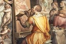 Vasari Lives of the Artists / Giorgio Vasari is considered the first art historian. Much of what we know about the early Renaissance is due to good ol Giorgio!