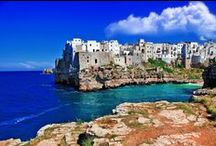 "Puglia / Sophia and Raffaella spend their summer holiday in Puglia during the month of August where they ""float like Botticelli Venuses"" in the crystal blue waters all the way from Bari to Lecce!"