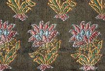 Silk, damask, brocade and velvet