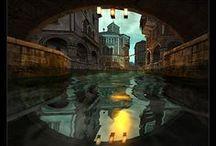 Second Life  / Un'altro mondo di sogni stupendi come vivere e volare dentro fantastici quadri tridimensionali