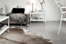 Cowhide Rug Decor and Projects / Genuine Hair-on Cow Hides from The Leather Guy and Cowhide Rug Inspiration.