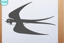 How to draw birds / Video tutorials how to draw birds with step by step instructions