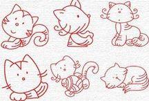 КОШКИ РИСУНОК / Как можно нарисовать кошку,