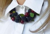 Berries bracelets. Made by hand from polymer clay. Author Polynastudio