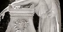 Cementery - sculpture, statue, tomb