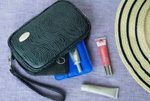 "Beauty / ""Cool"" makeup bag and great makeup."