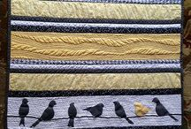 Black, white & yellow / Quilts for our club challenge this year. Quilts have to be A4size and only those 3 colours