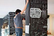 Krijtbord | Chalkboard / Chalkboard inspiration: fonts, design and supplies.