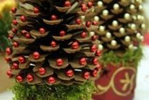 Crafts - Pinecones / Decorating with pinecones.  Crafts and ideas.