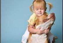 Crianças + Pitbulls = um par perfeito!!