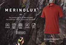 MerinoLux™ / GO EVERYWHERE MERINO WOOL BLEND 5.75 oz., 68% Sorona Polyester, 32% Merino Wool Merino Wool adds warmth, while Sorona® poly adds a soft hand feel to this knit jersey blend. Great for base layers.