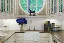 Savory Kitchens & Pantries / Kitchens we'd love to cook in, eat in or just hang out in!