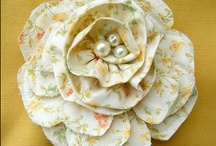 flowers:  crochet, paper, nylon, cloth / flowers of all kinds