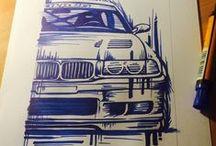 RA Drawings / Pencil / Pen / Paint