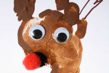 Christmas Crafts & Decorations / ideas of hand made crafts to do with or for your baby and toddler...