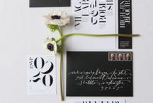 Wedding invitations / Calligraphy, stamps, and letterpress