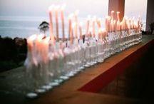 Reception decorations / Fun reception style
