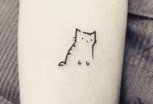 Minimalist Cute Tattoos / ...and little kitties -w-